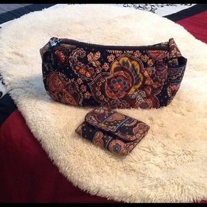 Vera Bradley quilted wallet and bag